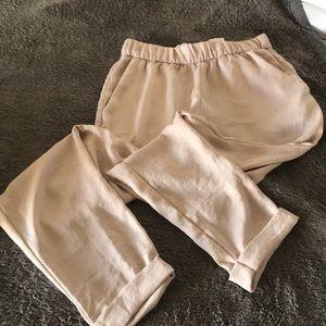 Silky light pink pants